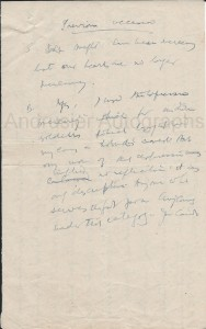letter from Gandhi