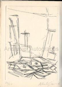 Giacometti signed book