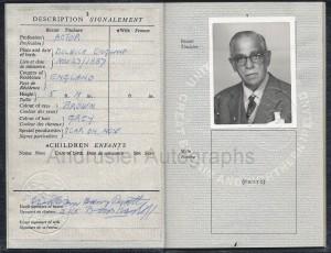 Boris Karloff passport