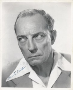 autographed photo of Buster Keaton