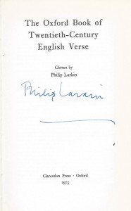 Poetry book signed by Philip Larkin