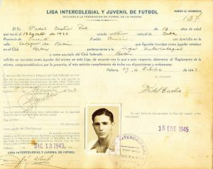 Autographed document by Fidel Castro