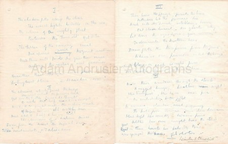 Autograph manuscript by Winston Churchill