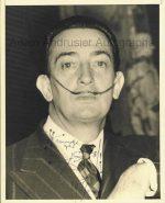 Autographed portrait by Salvador Dali