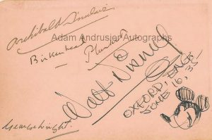 Autographed sketch of Mickey Mouse by Walt Disney