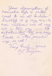 Autographed letter by Charles Dodgson