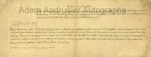Henry VIII autograph document 1516