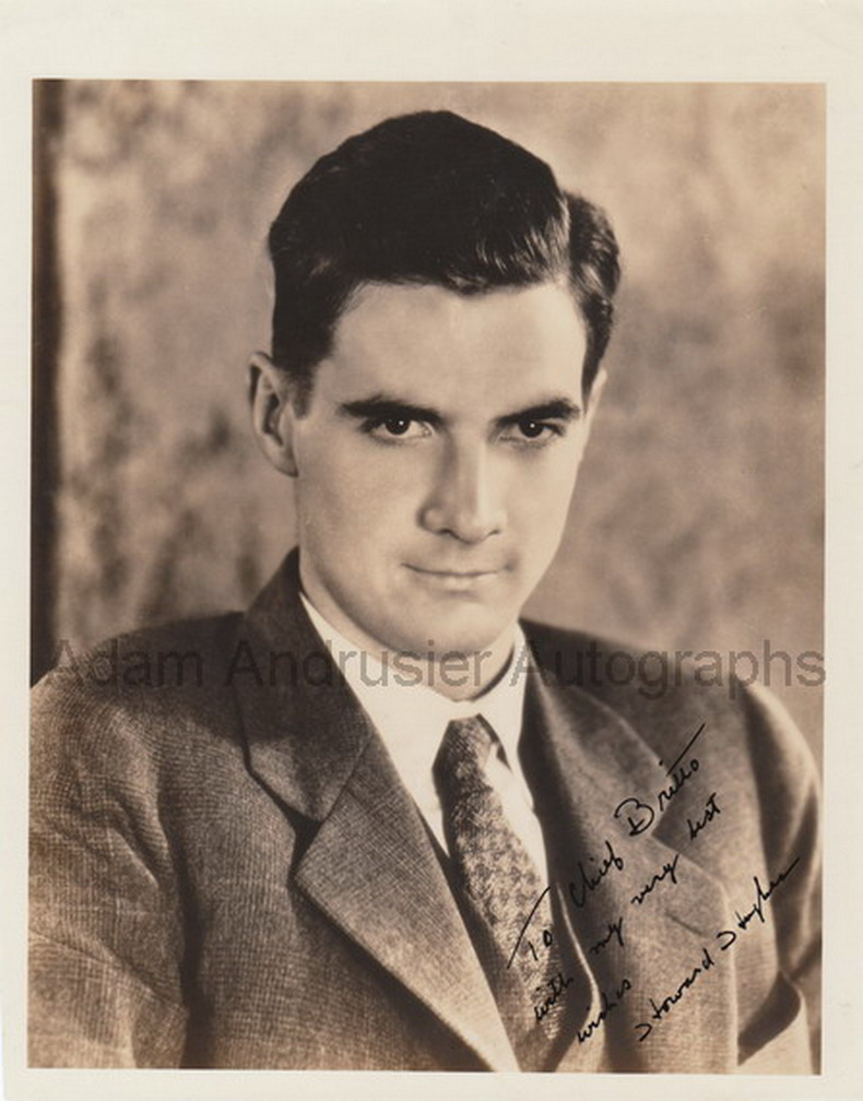 Autographed photograph and letter Howard Hughes