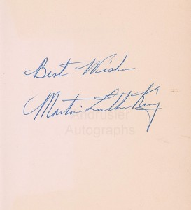 Marin Luther King autograph