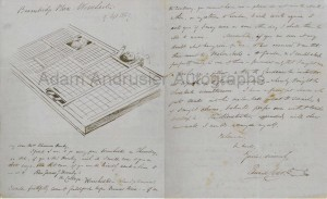 Illustrated autographed letter Edward Lear