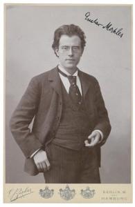 autographed portrait of Mahler