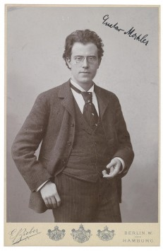 autographed portrait of Mahler