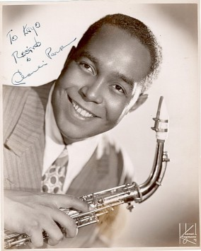 autographed photo of Charlie Parker
