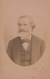 Giuseppe Verdi autographed and inscribed portrait